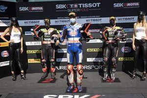 Jonathan Rea, Kawasaki Racing Team WorldSBK, Toprak Razgatlioglu, PATA Yamaha WorldSBK Team, Alex Lowes, Kawasaki Racing Team WorldSBK