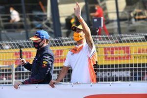 Max Verstappen, Red Bull Racing RB16B Daniel Ricciardo, McLaren MCL35M Driver's parade