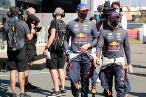 Max Verstappen, Red Bull Racing, and Sergio Perez, Red Bull Racing
