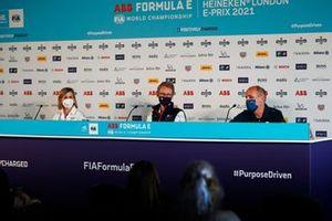 Susie Wolff, Team Principal, Venturi Racing, Sylvain Filippi, Managing Director, Envision Virgin Racing, Christian Silk, Team Principal, NIO 333