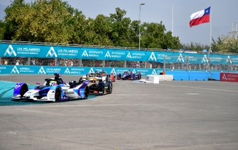 Александр Симс, BMW i Andretti Motorsport, BMW iFE.20, и Антониу Феликс да Кошта, DS Techeetah, DS E-TENSE FE20