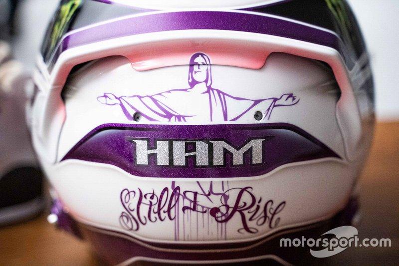 Casco de Lewis Hamilton, Mercedes