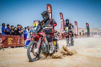 #9 Monster Energy Honda Team: Ricky Brabec, #7 Monster Energy Honda Team: Kevin Benavides