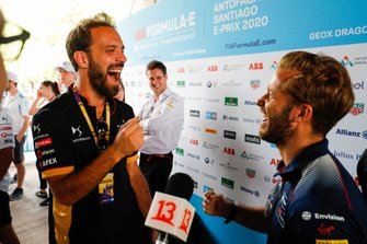 Jean-Eric Vergne, DS Techeetah, Sam Bird, Virgin Racing laughing