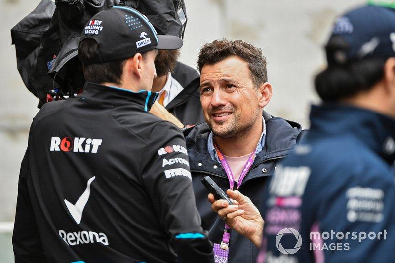 Robert Kubica, Williams Racing speaks to the media