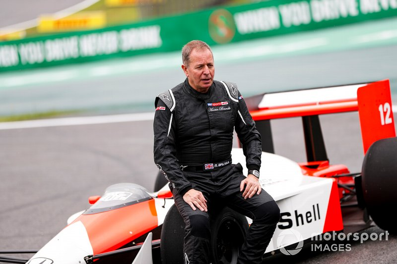 Martin Brundle, Sky TV con el McLaren MP4/4