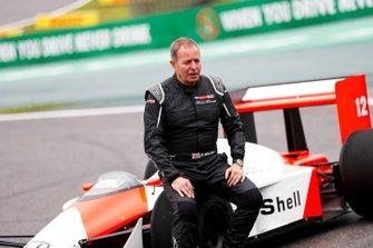 Martin Brundle, Sky TV con el McLaren MP4/4