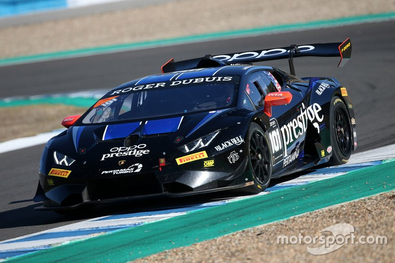 #101 Huracan Super Trofeo Evo, Travis Hougen/ Wane Taylor Racing: Andrea Amici, Sandy Mitchell