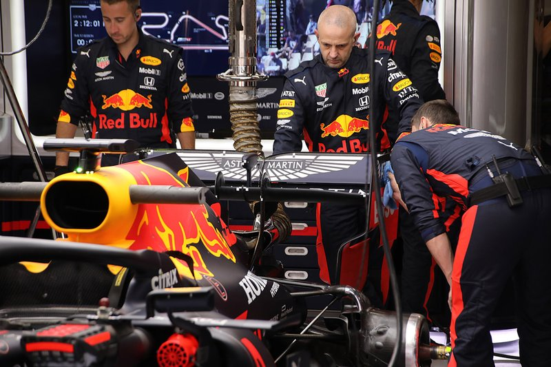 Dettagli posteriore Red Bull Racing RB16