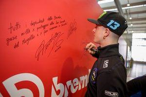 Visita di Andrea Migno e Celestino Vietti, Sky Racing Team VR46 presso la sede Brembo