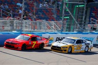 Justin Allgaier, JR Motorsports, Chevrolet Camaro BRANDT and Brad Keselowski, Team Penske, Ford Mustang XPEL