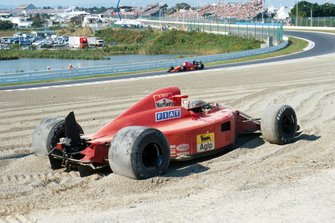The car of Alain Prost, Ferrari 641 in the gravel