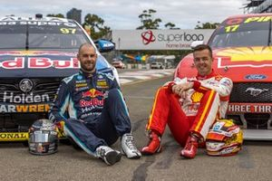 Shane van Gisbergen, Triple Eight Race Engineering Holden, Scott McLaughlin, DJR Team Penske Ford
