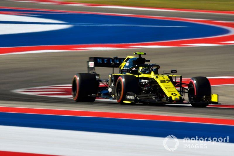 Нико Хюлькенберг, который финишировал в США девятым, мог бы заработать очки в седьмой гонке подряд, но этому помешала дисквалификация Renault в Японии. Это был бы лучший его результат с 2014 года, когда немец заработал очки 12 раз подряд