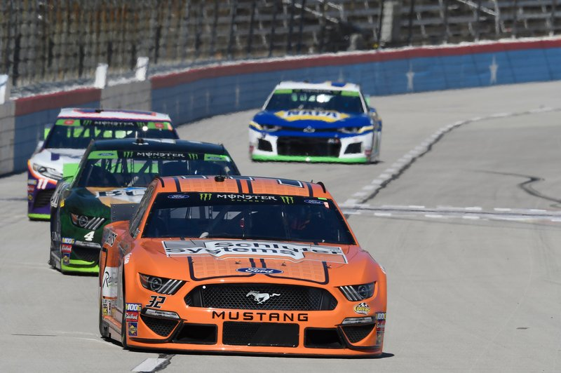 Corey LaJoie, Go FAS Racing, Ford Mustang Schluter Systems, Kevin Harvick, Stewart-Haas Racing, Ford Mustang Busch Beer / Ducks Unlimited, Denny Hamlin, Joe Gibbs Racing, Toyota Camry FedEx Office, Chase Elliott, Hendrick Motorsports, Chevrolet Camaro NAPA AUTO PARTS