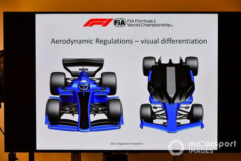 Presentazione del regolamento tecnico 2021 della Formula 1, durante la conferenza stampa