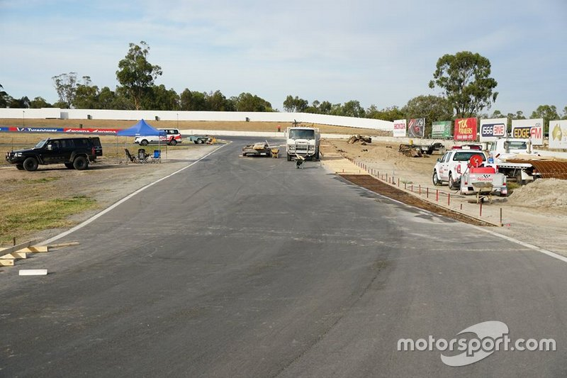 Track works at Winton Motor Raceway