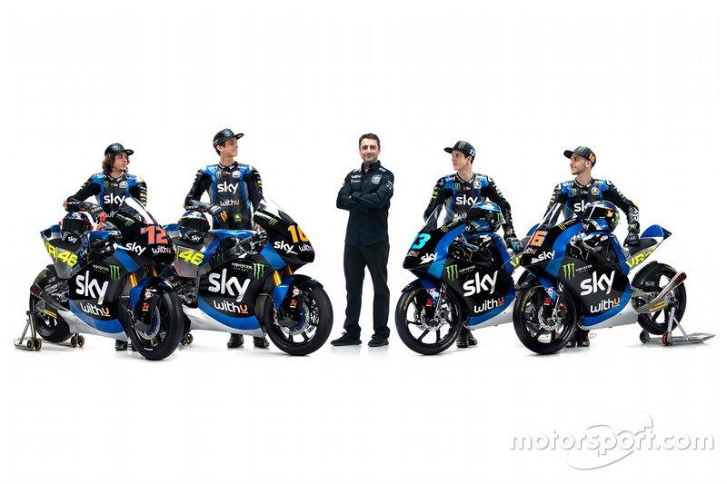 Luca Marin, Marco Bezzecchi, Celestino Vietti, Andrea Migno, Pablo Nieto, Sky Racing Team VR46