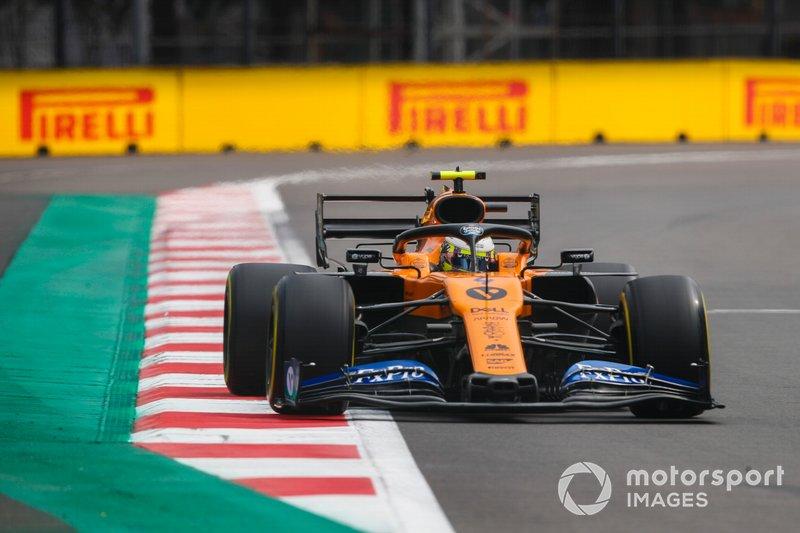 Abandonou: Lando Norris, McLaren MCL34