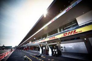 Mercedes AMG F1 garage in the pit lane