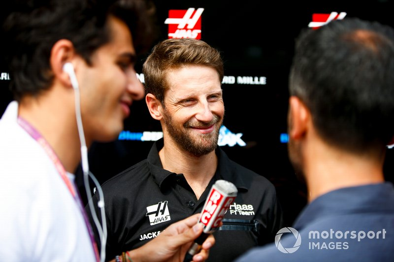 Romain Grosjean, Haas F1 parla ai media