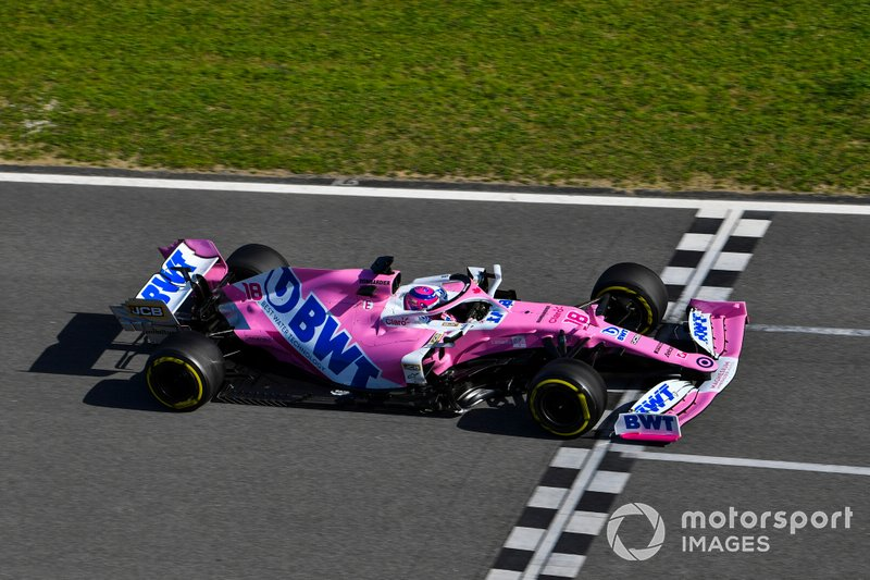 16º Lance Stroll, Racing Point RP20: 1:17.118 (con neumáticos C3)