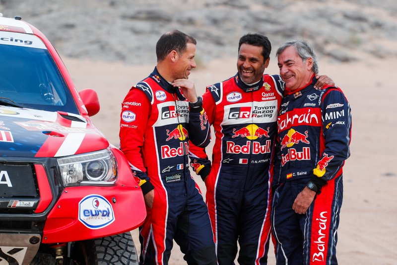 #300 Toyota Gazoo Racing: Nasser Al-Attiyah, Matthieu Baumel, #305 JCW X-Raid Team: Carlos Sainz
