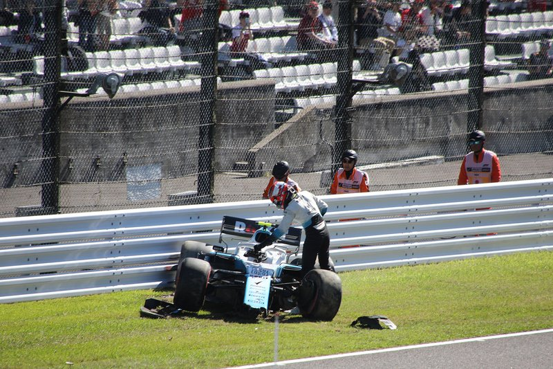 Choque de Robert Kubica, Williams FW42