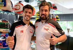 Matías Rossi e Maurício Ferreira na sede da Full Time