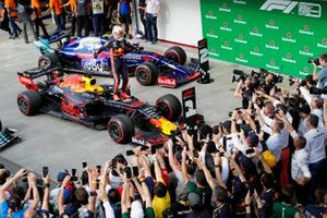 Race winner Max Verstappen, Red Bull Racing celebrates in Parc Ferme