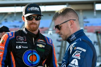 Jeb Burton, JR Motorsports, Chevrolet Camaro State Water Heaters and Justin Allgaier, JR Motorsports, Chevrolet Camaro Suave Men