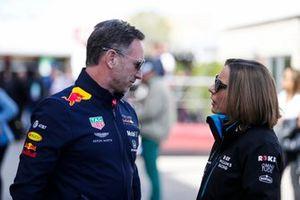 Christian Horner, Team Principal, Red Bull Racing, and Claire Williams, Deputy Team Principal, Williams Racing