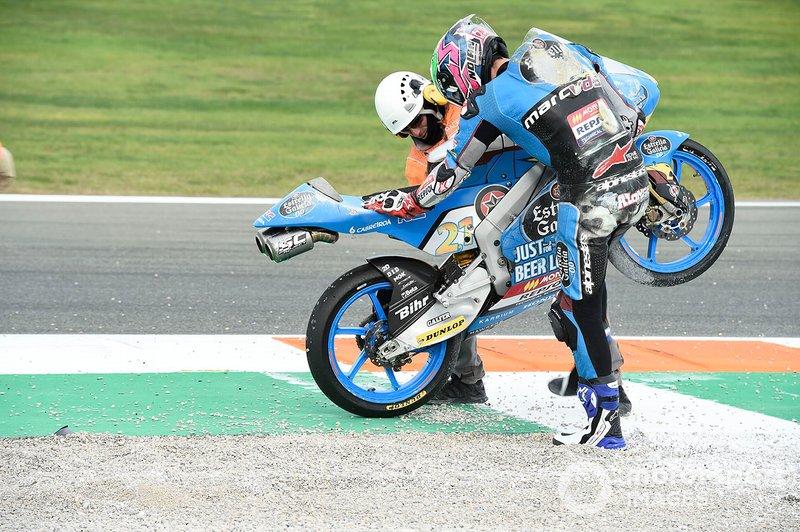 Alonso Lopez, Estrella Galicia 0,0 after his crash