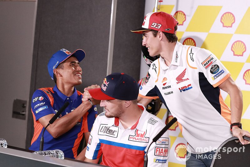 Хафиз Сьяхрин, Red Bull KTM Tech 3, и Марк Маркес, Repsol Honda Team