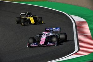 Серхио Перес, Racing Point F1 Team RP19, и Даниэль Риккардо, Renault Sport F1 Team R.S.19