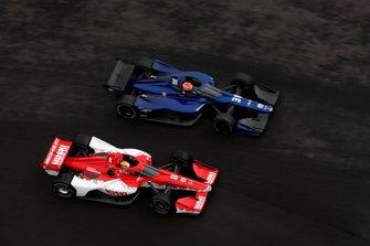 Marcus Ericsson, Chip Ganassi Racing Honda, Felipe Nasr, Carlin Chevrolet