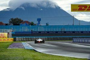 Action lors des essais libres de la Formule E au Mexique