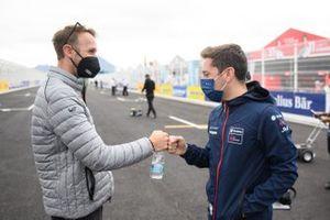 Rene Rast, Audi Sport ABT Schaeffler, checke Robin Frijns, Envision Virgin Racing, du poing