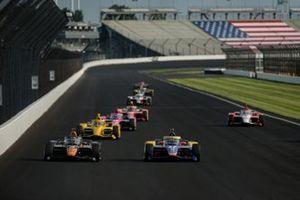 Pato O'Ward, Arrow McLaren SP Chevrolet and Alexander Rossi, Andretti Autosport Honda