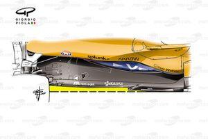 McLaren MCL35M new floor