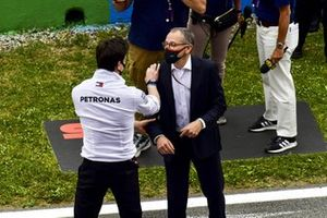 Toto Wolff, Team Principal and CEO, Mercedes AMG, with Stefano Domenicali, CEO, Formula 1