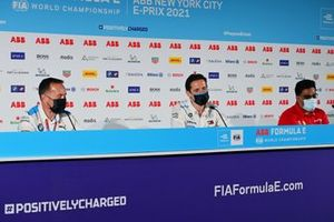 Roger Griffiths, Team Principal, BMW i Andretti Motorsport, Ian James, Team Principal, Mercedes-Benz EQ, Dilbagh Gill, CEO, Team Principal, Mahindra Racing, in the press conference