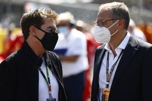 Tom Cruise with Stefano Domenicali, CEO, Formula 1
