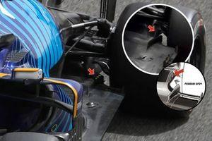 Aletas del suelo del Williams FW43B