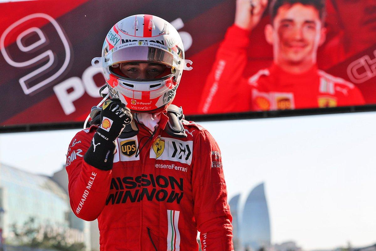 Ganador de la pole Charles Leclerc, Ferrari SF21