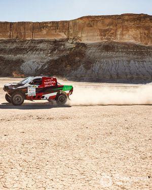 Yazeed Al-Rajhi, Dirk von Zitzewitz, Toyota Hilux
