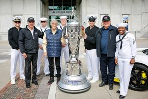 Rick Mears, Al Unser Sr., A.J. Foyt, the three four-time winners of the Indianapolis 500, with military