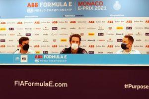 Norman Nato, Venturi Racing, Jean-Eric Vergne, DS Techeetah, Stoffel Vandoorne, Mercedes-Benz EQ, en la conferencia de prensa