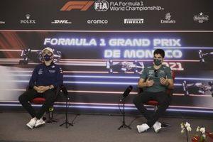 Nicholas Latifi, Williams, e Lance Stroll, Aston Martin,in conferenza stampa