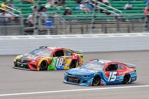 Kyle Busch, Joe Gibbs Racing, Toyota Camry M&M's Mix and Joey Gase, Rick Ware Racing, Chevrolet Camaro